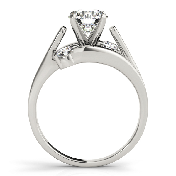 3 Diamond Bypass Swirl Engagement Ring