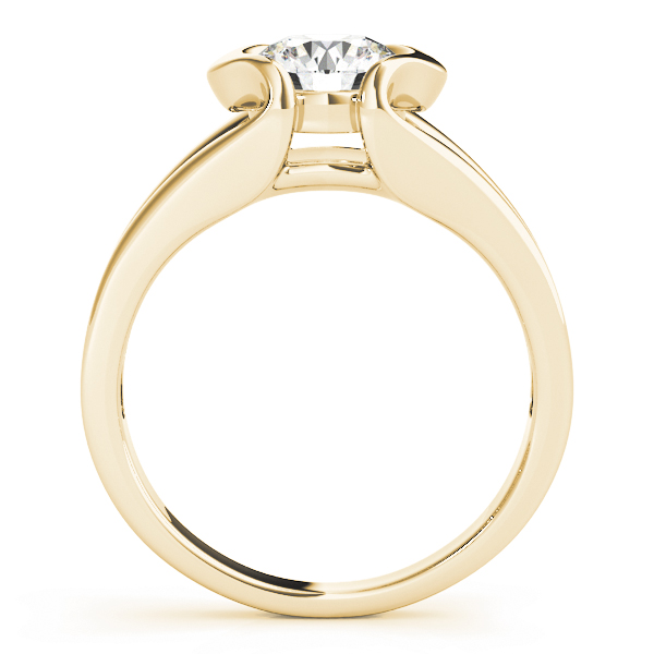 Split Band Bezel Engagement Ring Yellow Gold