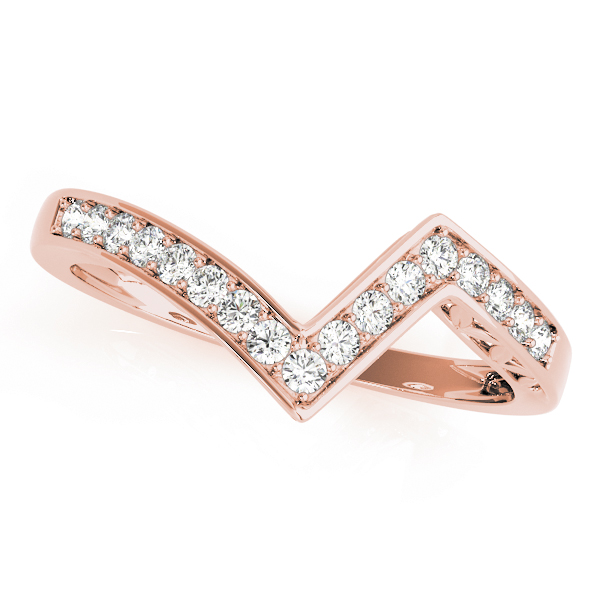 Swirl Diamond Pave Bridal-Set with Filigree in Rose Gold