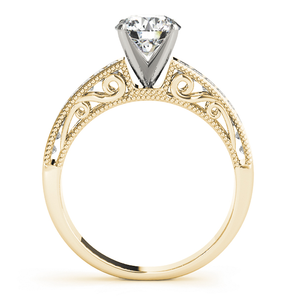 Classic Channel Set Princess Cut Diamond Engagement Ring in Yellow Gold