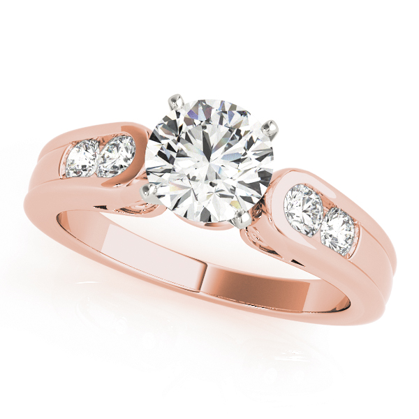 Cathedral Diamond Bridal Set with Filigree in Rose Gold