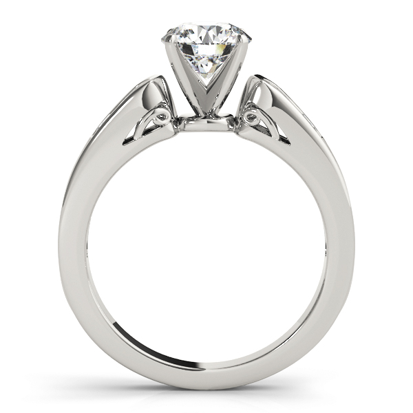 Cathedral Diamond Engagement Ring with Filigree