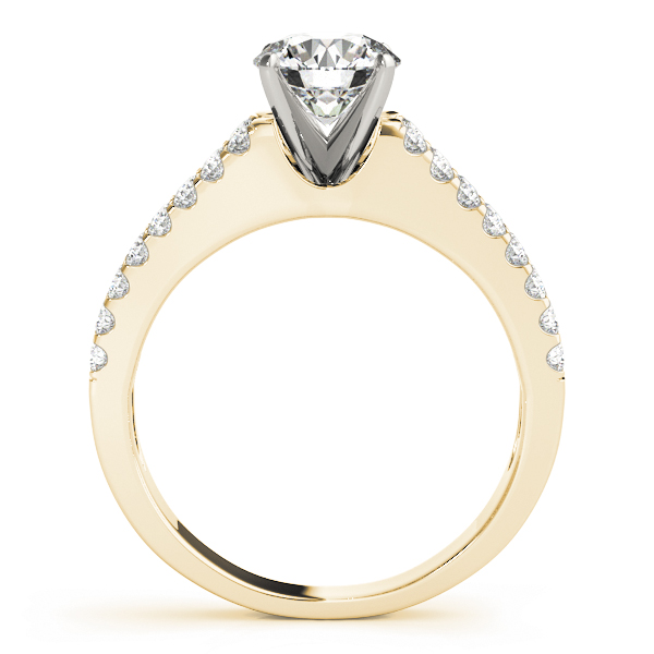 Split Band Diamond Engagement Ring in Yellow Gold