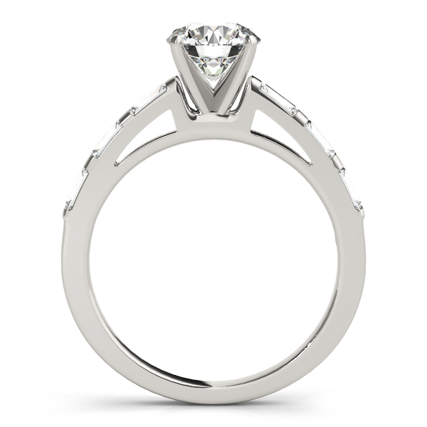 Classic Cathedral Baguette Cut Diamond Engagement Ring