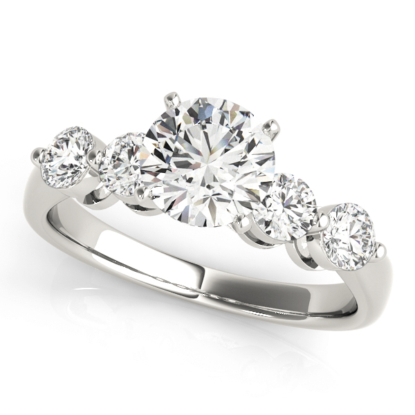 Engagement Ring Classic Diamond Engagement Ring with Tapered Band BS5 1