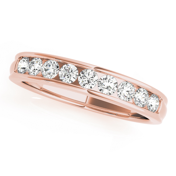 Vintage Bridge Engagement Ring in Rose Gold