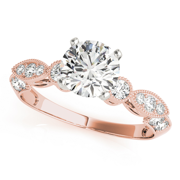 Vintage Diamond Bridal Set in Rose Gold