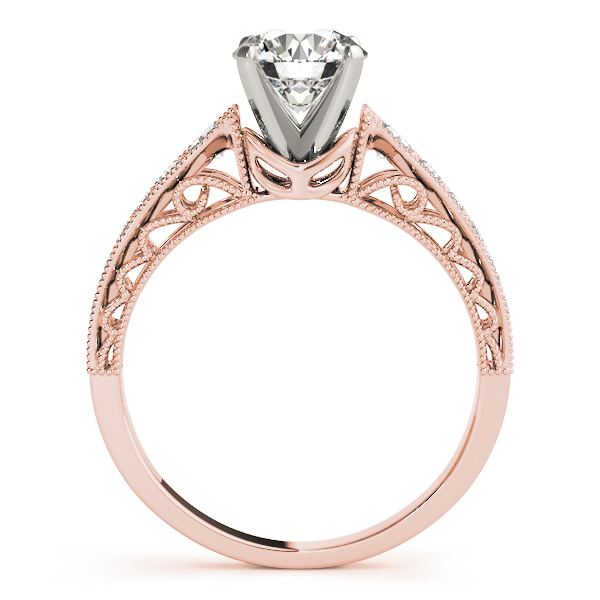 Wave Diamond Vintage Bridal Set in Rose Gold