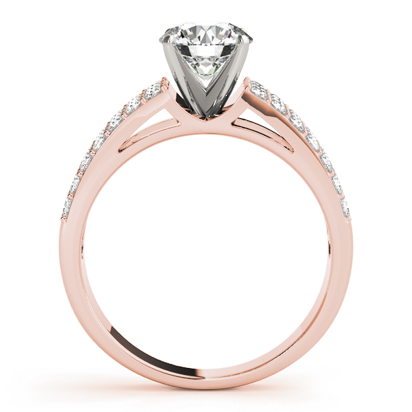 Triple Row Diamond Bridal Set in Rose Gold