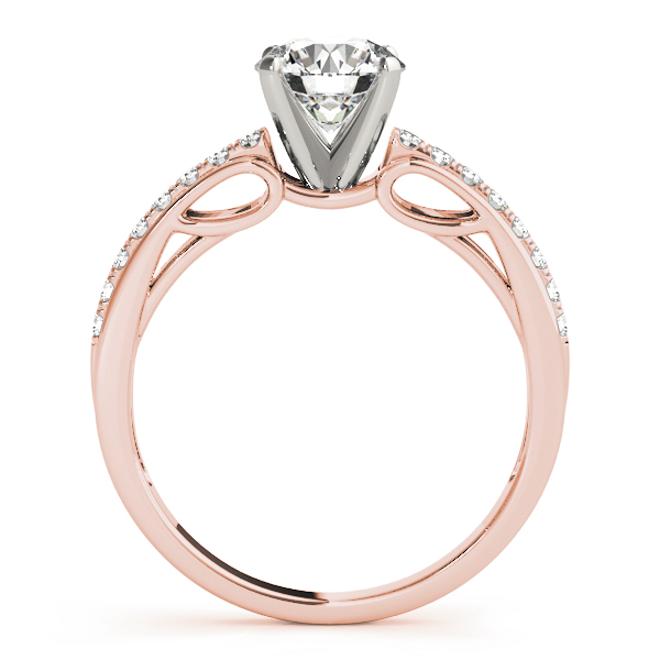 Diamond Cathedral Bridal Set in Rose Gold