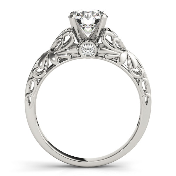 Floral Cathedral Diamond Engagement Ring