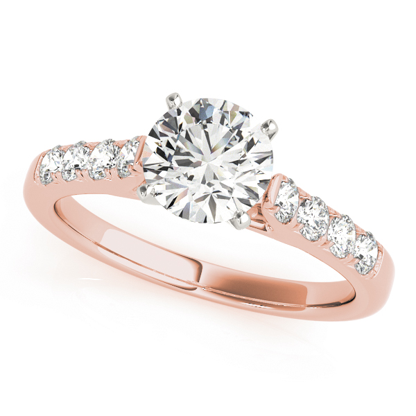 Classic Cathedral Diamond Bridal Set in Rose Gold