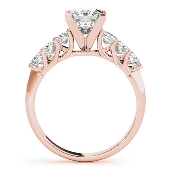 princess trellis diamond bridal set in rose gold - Princess Wedding Rings