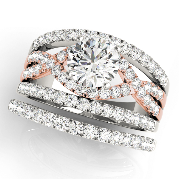 Intertiwned Triple Band Engagement Ring in Rose Gold