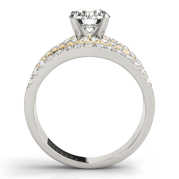 Intertiwned Triple Band Engagement Ring in Yellow Gold