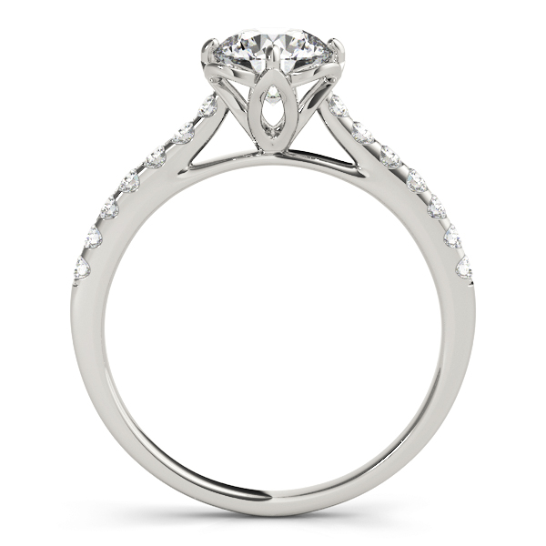 Floral Cathedral Petite Engagement Ring