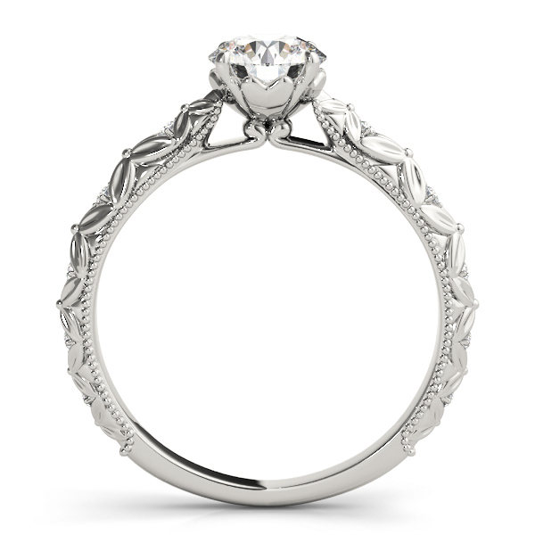 Knife Edge Bow-Tie Diamond Cathedral Engagement Ring