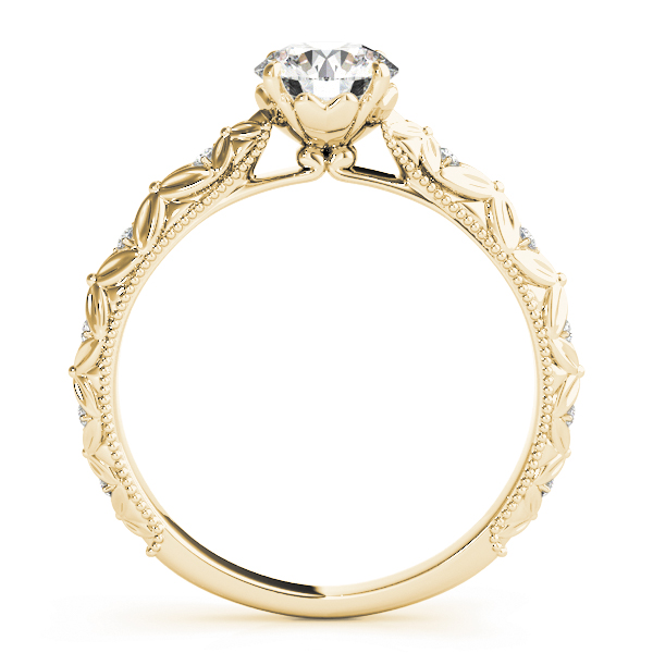 Knife Edge Bow Tie Diamond Cathedral Engagement Ring in Yellow Gold