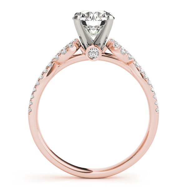 Split Band Diamond Bridal Set Rose Gold