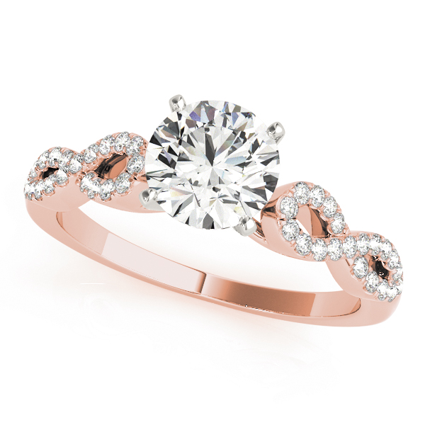 Infinity Diamond Engagement Ring Rose Gold
