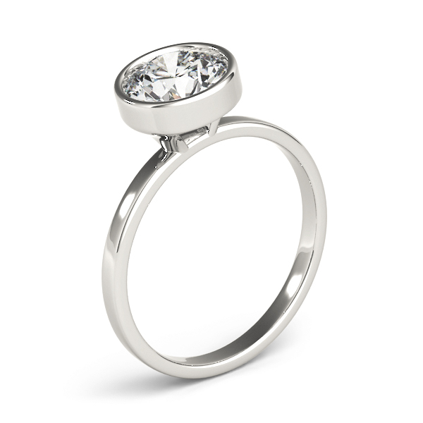 High Set Bezel Engagement Ring