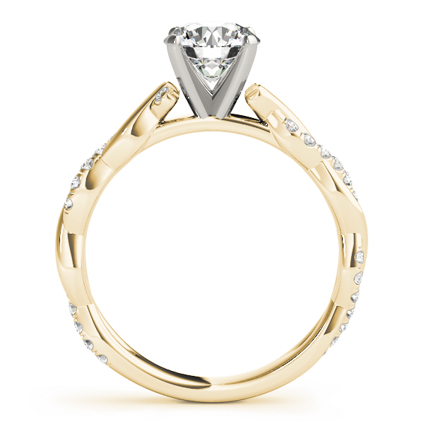 Petite Infinity Engagement Ring All Shapes Yellow Gold