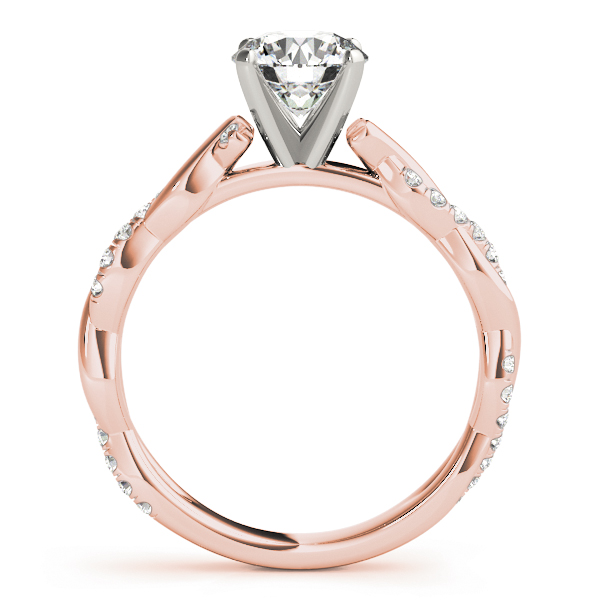 Petite Infinity Engagement Ring All Shapes Rose Gold