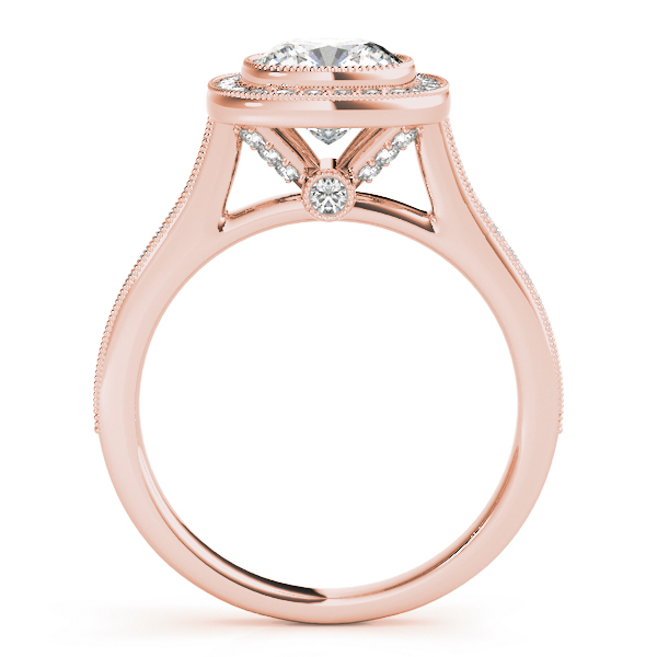 Cushion Halo Legacy Bridal Set Rose Gold