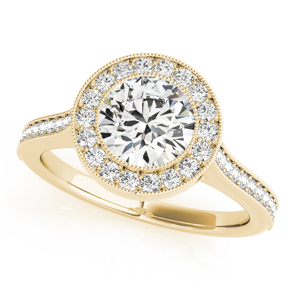 Halo Legacy Engagement Ring Yellow Gold