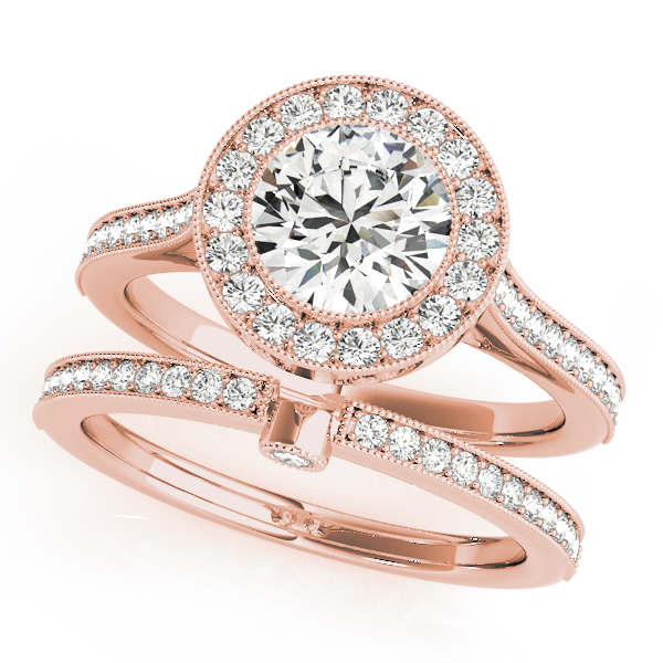 Halo Legacy Rose Gold Bridal Set