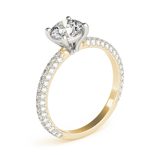 Etoil Round Diamond Ring Yellow Gold