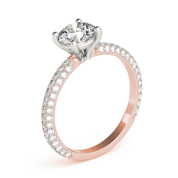 Etoil Round Diamond Ring Rose Gold
