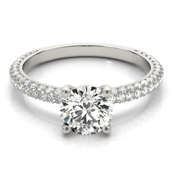 Etoil Round Diamond Engagement Ring
