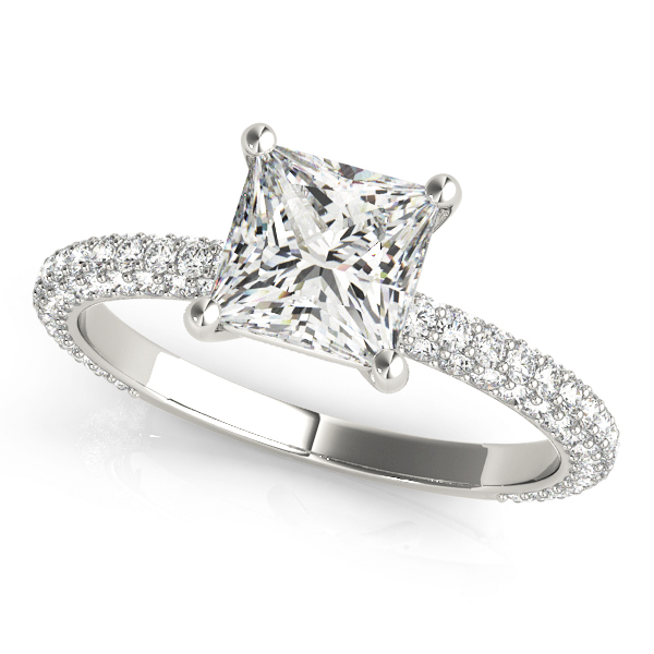 Etoil Princess Diamond Engagement Ring
