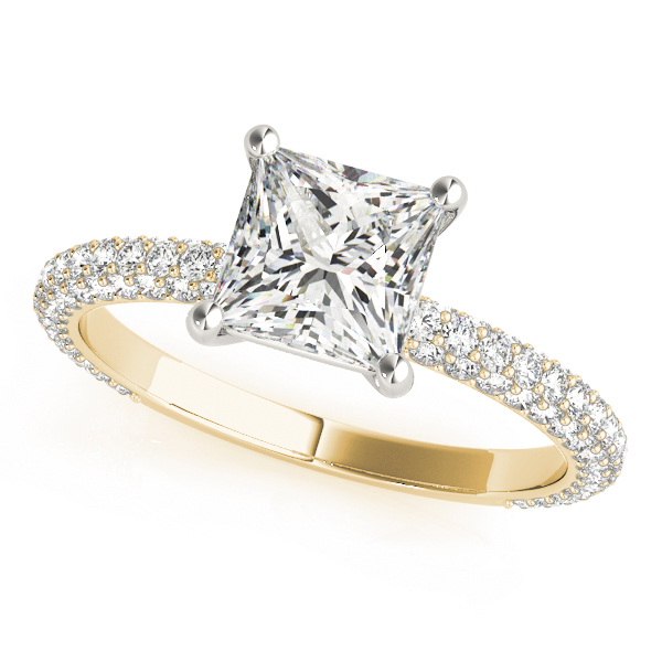 Etoil Princess Diamond Ring Yellow Gold