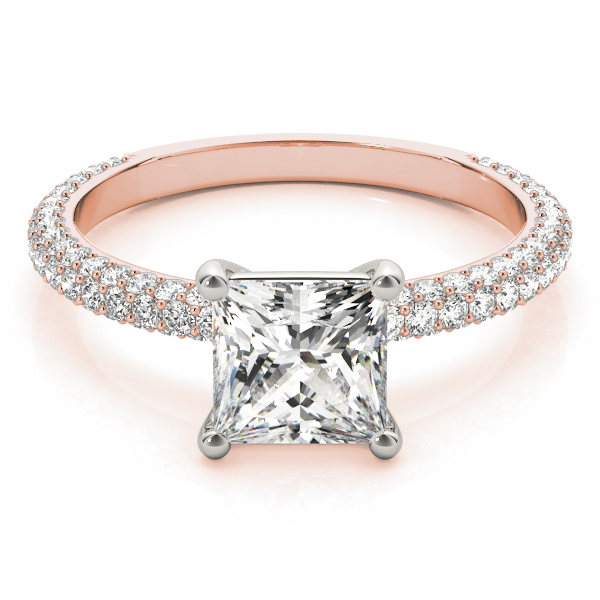 Etoil Princess Diamond Ring Rose Gold