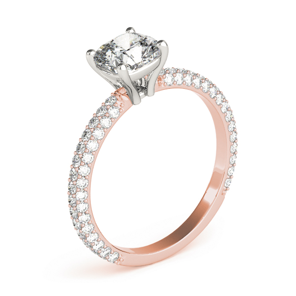 Etoil Cushion Diamond Ring Rose Gold