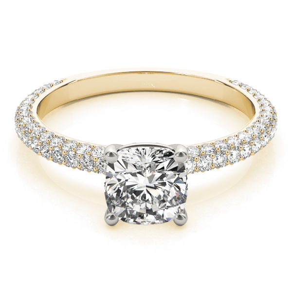 Etoil Cushion Diamond Ring Yellow Gold