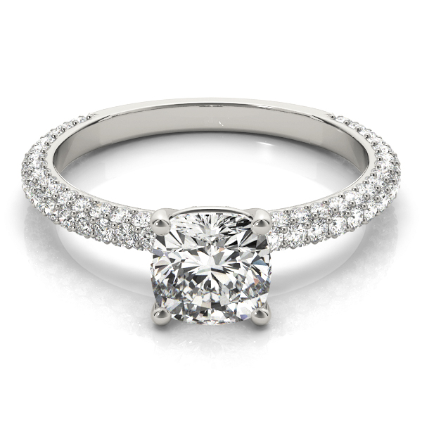 Etoil Cushion Diamond Engagement Ring