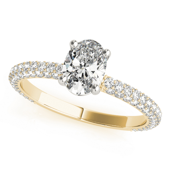 Etoil Oval Diamond Ring Yellow Gold
