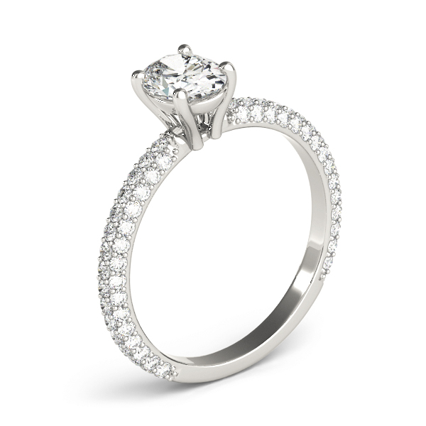 Etoil Oval Diamond Engagement Ring