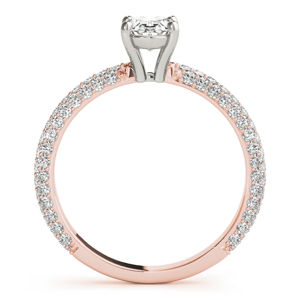 Etoil Oval Diamond Ring Rose Gold