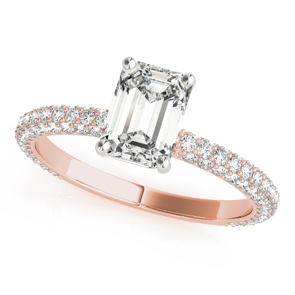 Etoil Emerald Diamond Ring Rose Gold