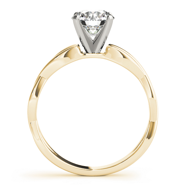 Infinity Solitaire Engagement Ring Yellow Gold