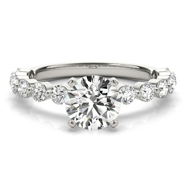 Mutual Prong Diamond Engagement Ring