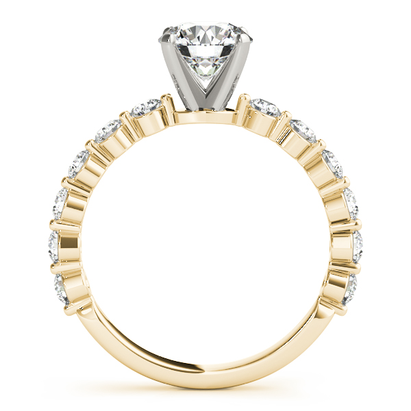 Mutual Prong Diamond Ring Yellow Gold