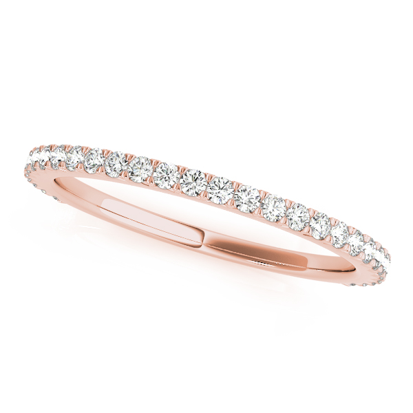 Classic Diamond Bridal Set Rose Gold