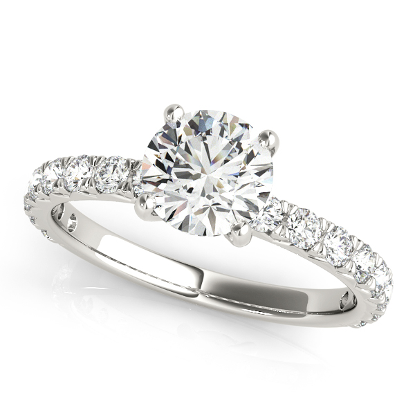 Classic Platinum Diamond Bridal Set