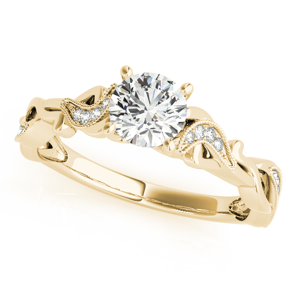 Petite Diamond Infinity Engagement Ring Yellow Gold