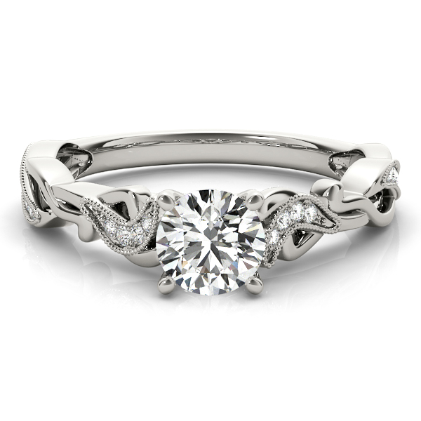 Petite Filigree Diamond Infinity Engagement Ring
